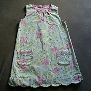 Lilly Pulitzer girls 5 shift dress scalloped hem